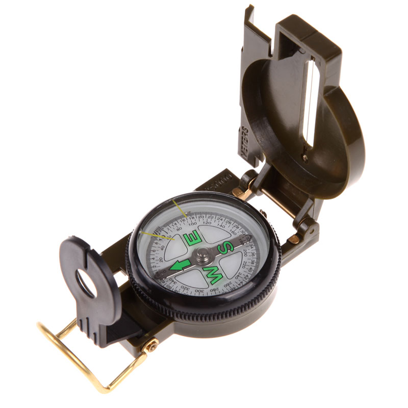 S1#5485 bussola kompas Portable Army Green Folding Lens Compass American Geology Military compass for Outdoor Hiking Camping(China (Mainland))