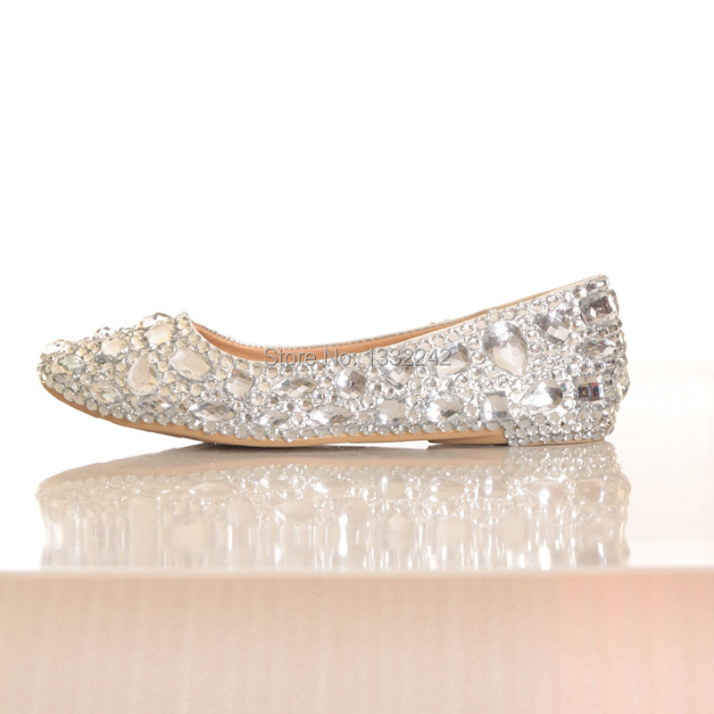 genuine leather toe shoes silver