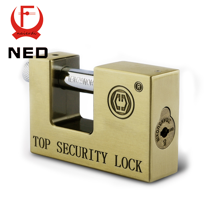 Hot NED E9-80 Archaize Super B Grade Padlocks Safe Anti-Theft Lock Rustproof Antique Bronze Top Security Locks For Home Hardware<br><br>Aliexpress