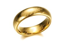 Wholesale Men's Ring 18K Gold Plated Ring Unisex Couple Rings The Lord Of The Rings KJ010 Free shipping
