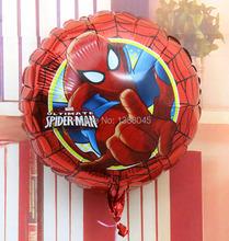 10 unids/lote 18 pulgadas de dibujos animados Spiderman helio Foil fiesta de cumpleaños hincha decoraciones navideñas partido de los niños Decora juguetes clásicos