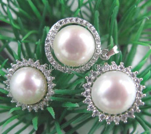 xd j0081 Natural South Sea Pearl Set (Pendant&earring) 10-11mm(China (Mainland))