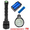 11 XML T6 LED 50000 lumen Outdoor lighting waterproof floodlight flashlight torch lantern camping light lamp