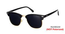 Rbrovo 2019 semi-sem aro marca designer óculos de sol polarizados uv400 clássico óculos de sol retro(China)