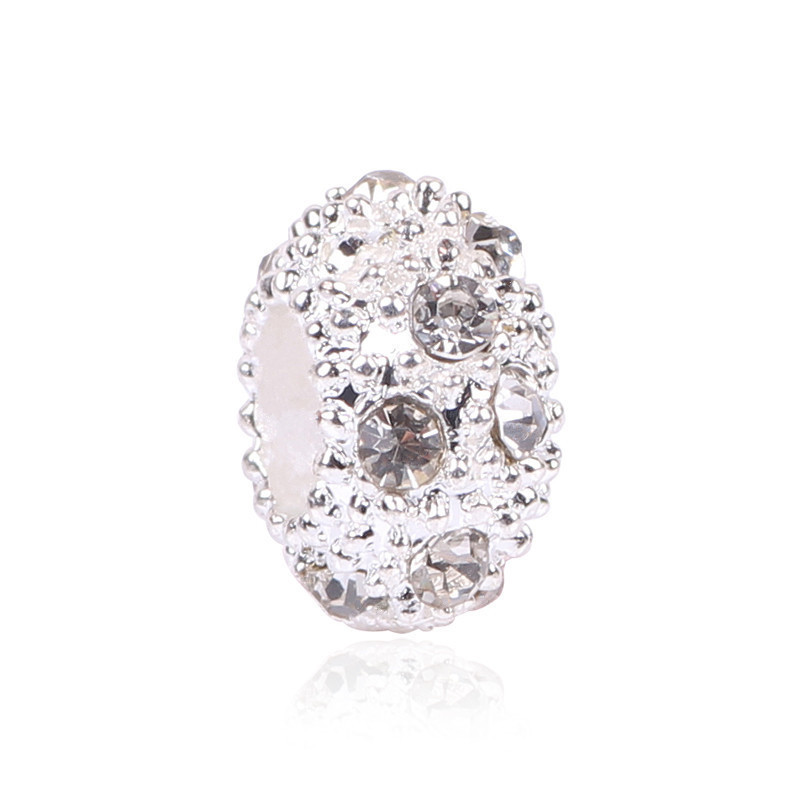European Alloy Delicate Metal Rhinestone Bead and Pendant Fits Pandora Bracelet & Bangles for DIY Jewelry Making Charms(China (Mainland))