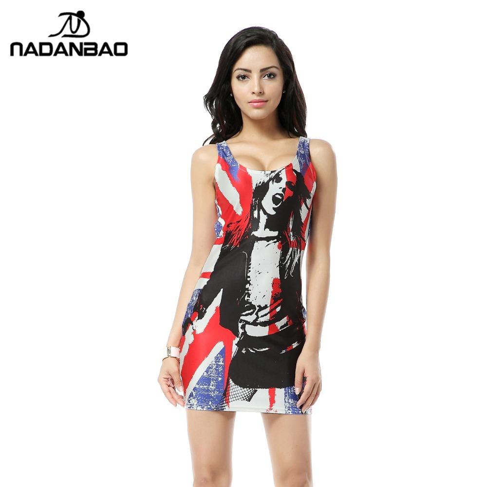2015 l Tank Dress Digital Print Dresses Casual dress Women high quality Summer women dress Party Cub TTQ031(China (Mainland))