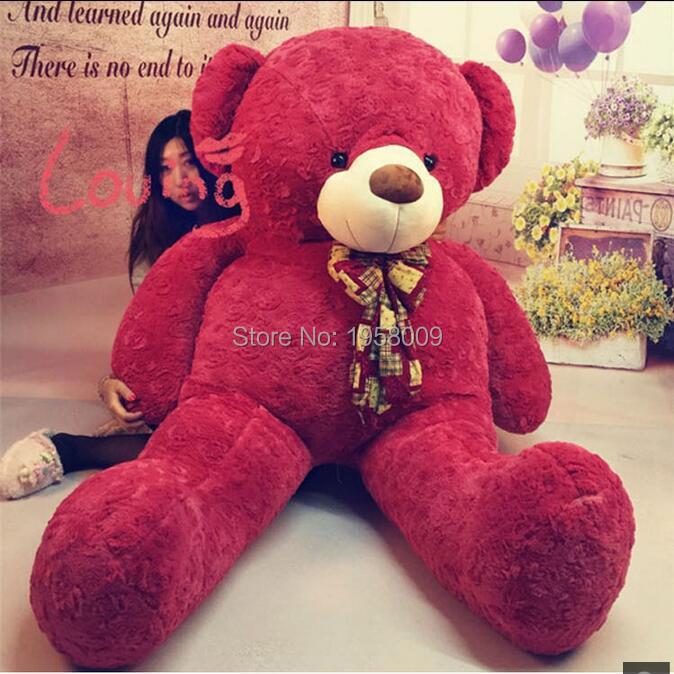 Giant Stuffed Teddy Bear High Quality Plush Toys Roses Velvet Teddy Bear 78 INCHES (200cm) Valentine's day gifts(China (Mainland))