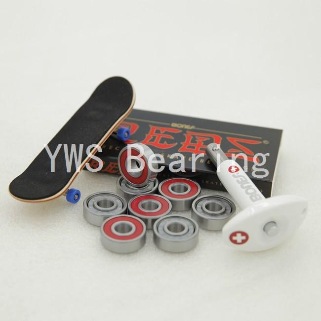 Free shipping! 8pcs/box 608 Bearing red Bones Reds Rolamento skate Skateboard Bearings 8*22*7mm Roller Skates red Bones Reds 608(China (Mainland))