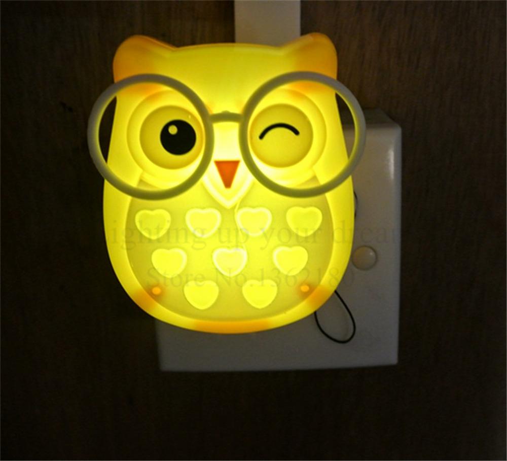 Cute Cartoon Owl Led Mini Night Light Auto Control Sensor