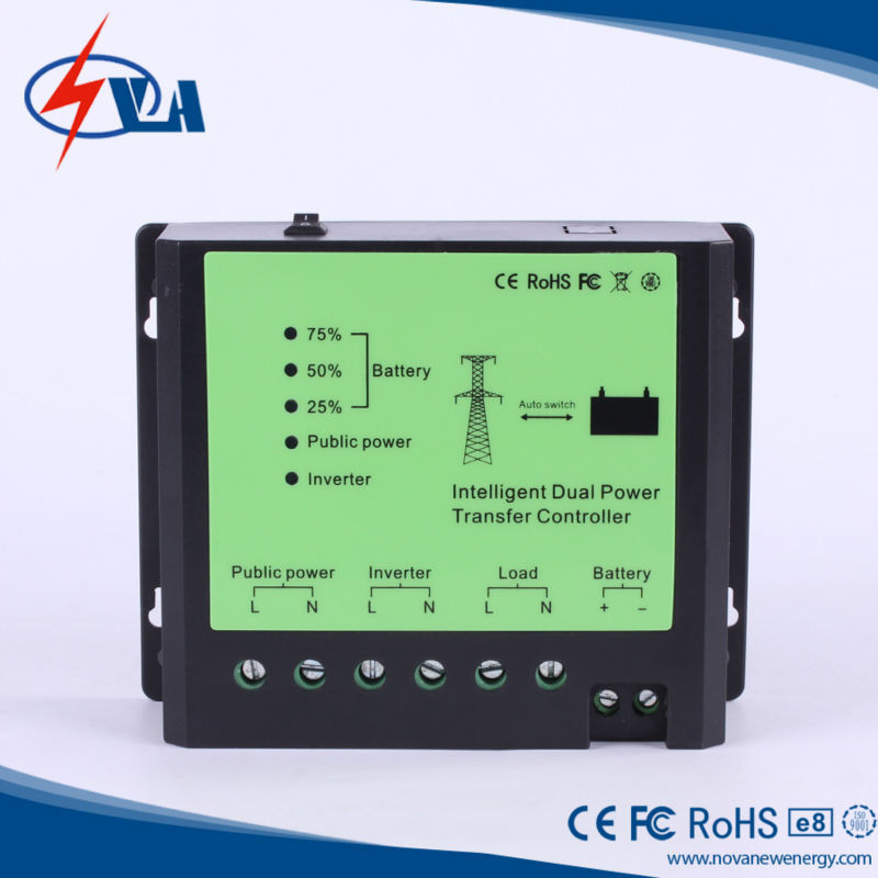 intelligent dual power transfer controller/solar switch/solar light switch/dual power automatic transfer switch<br><br>Aliexpress