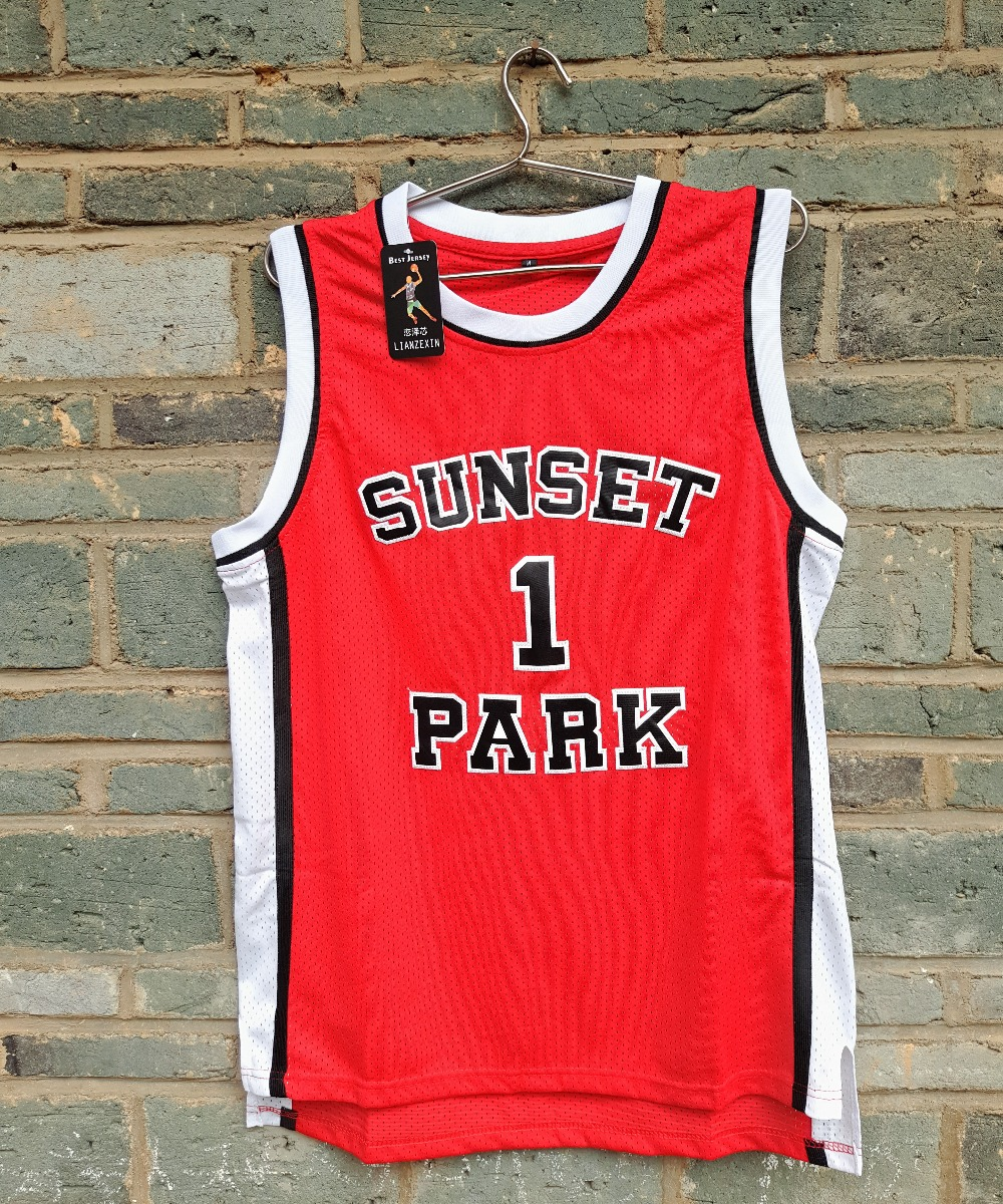 Cheap Sale LIANZEXIN Sunset Park Jerseys High School #1 Fredro Starr Shorty Throwback Jersey Red Wholesale Price(China (Mainland))