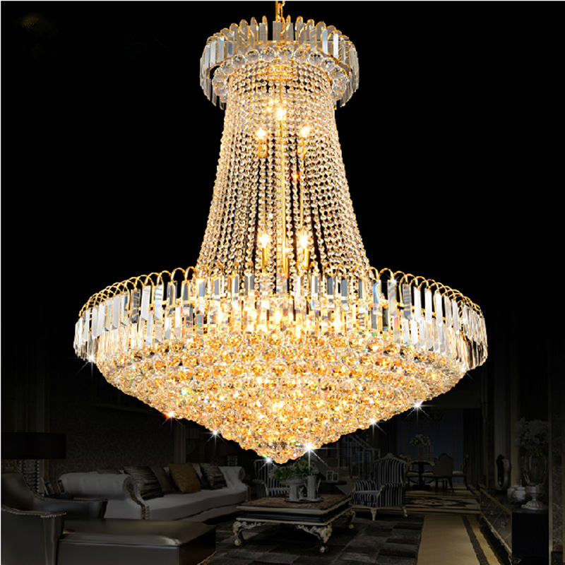 buy crystal chandelier lustres de cristais lustre cristal d40 d60 d80 stair. Black Bedroom Furniture Sets. Home Design Ideas