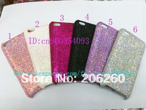 Hard Bling Case For iPod touch 4,Free Shipping,50pcs/lot,Glitter Bling Shining Hard Back Case For Itouch 4G 4,plastic case cover(China (Mainland))