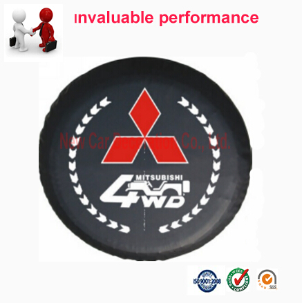 Car styling 4WD PVC car spare wheel cover SUV spare tire cover 14 15 16 17 inch for Mitsubishi MI-7(China (Mainland))