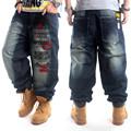 Loose Hip Hop Baggy Jeans For Big Men Slim Straight Fit Boys Youth Skateboard Hiphop Jeans