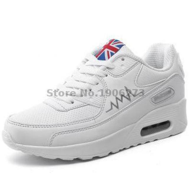 Черный белые туфли квартиры женщин дышащая спортивная свободного покроя женщина прогулки ...