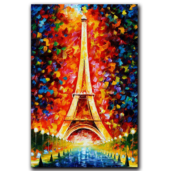 paris eiffel modern art canvas wall paintings abstract oil painting