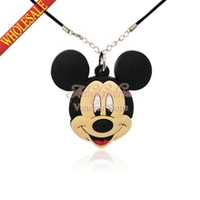 Guarantee 100% 1pcs Mickey Minnie Pendant Necklaces For Kid's best Christmas gift Travel accessories cartoon necklace Jewelry(China (Mainland))