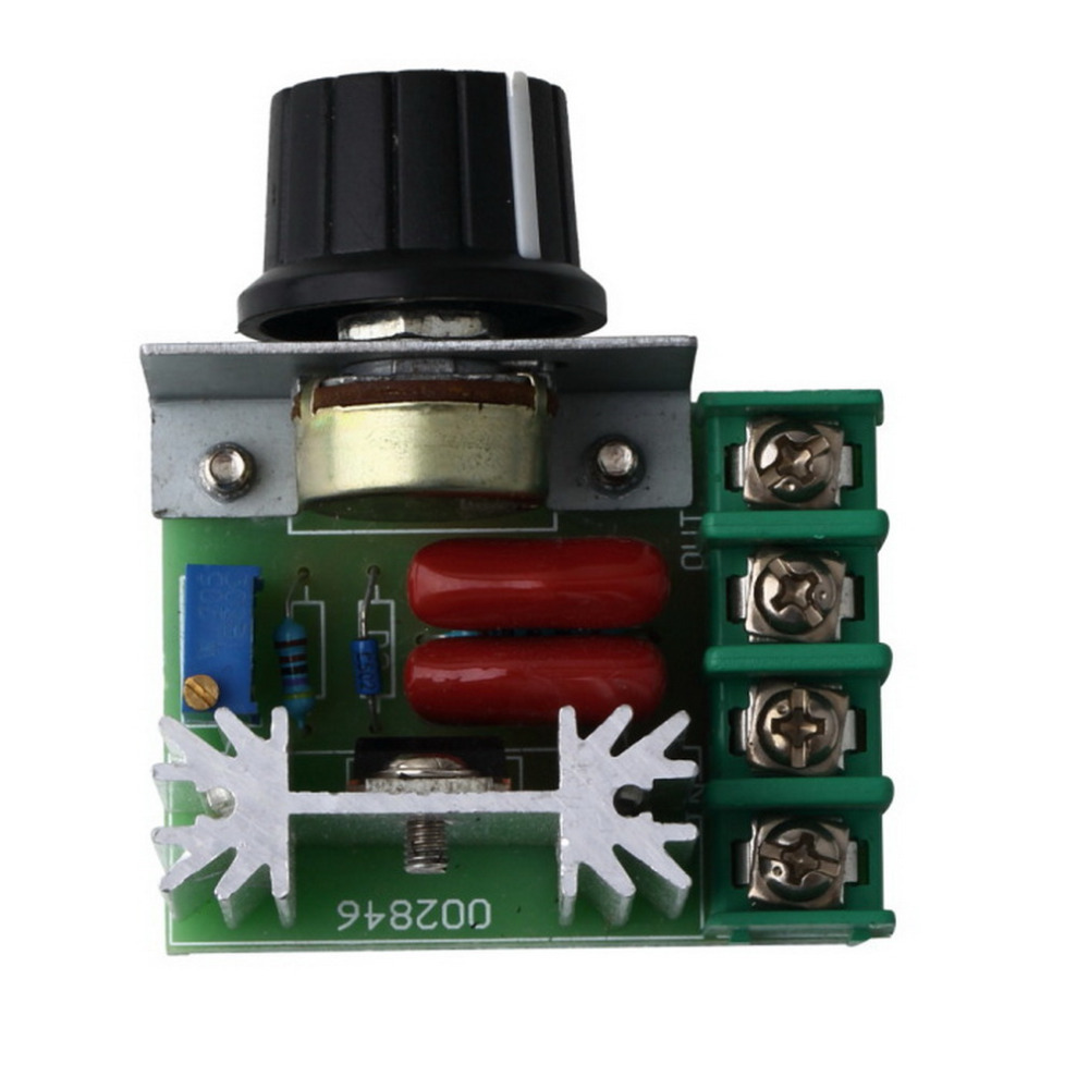 1Pcs 220V 2000W Speed Controller SCR Voltage Regulator Dimming Dimmers Thermostat New Free Shipping(China (Mainland))