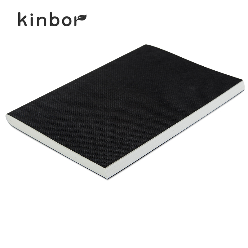 Kinbor Notebook Non Woven Fabric Soft Copybook Solid Black Simple Size 106*146*7mm Diary School&Office Supplies Notebooks DT5117(China (Mainland))