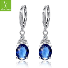 Luxury Platinum Plated Drop Earring Waterdrop Shape Earring Jewelry For Women Christmas Free Gift Pouch(China (Mainland))