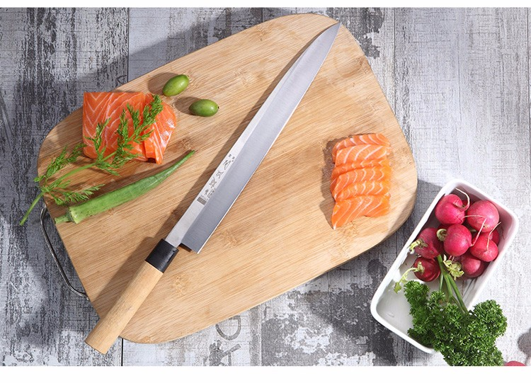 Buy Free Shipping YILang stainless steel kitchen knife salmon sashimi raw fish fillet chef knife cooking knives Sashayed gift cheap