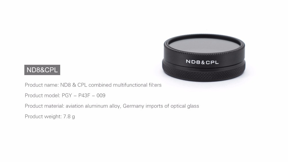 DJI phantom 4 3 Professional Advanced Camera Lens Filter ND8/CPL 2in1 Multi-function AGC Optical Glass parts accessories
