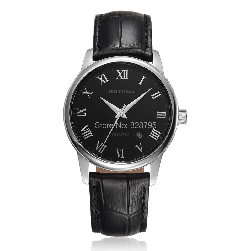 2015 NEW Fashion Business Style Men Roman Scale Quartz Watches Original Brand Genuine Leather Wristwatch Analog Clock Waterproof(China (Mainland))