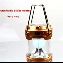 2016 New Arrival 6W Solar LED Camping Lantern 360 Degree Lighting with Solar and USB Charging Emergency Survival Lamp(China (Mainland))
