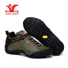 XIANGGUAN Man Hiking Shoes Men Athletic Trekking Boots Army Green Zapatillas Sports Climbing Hike Shoe Outdoor Walking Sneakers(China (Mainland))