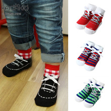 Cotton Newborn Baby Socks for Summer Kacakid Spring Floor Children's Socks for Newborns calcetines bebe Fake Shoes for Boys sale