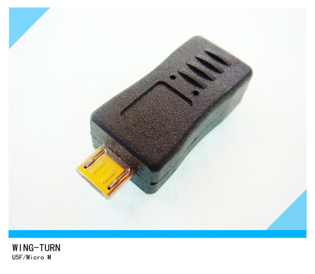 USB HDMI Mini 5 Pin Female into Micro Male Adapter