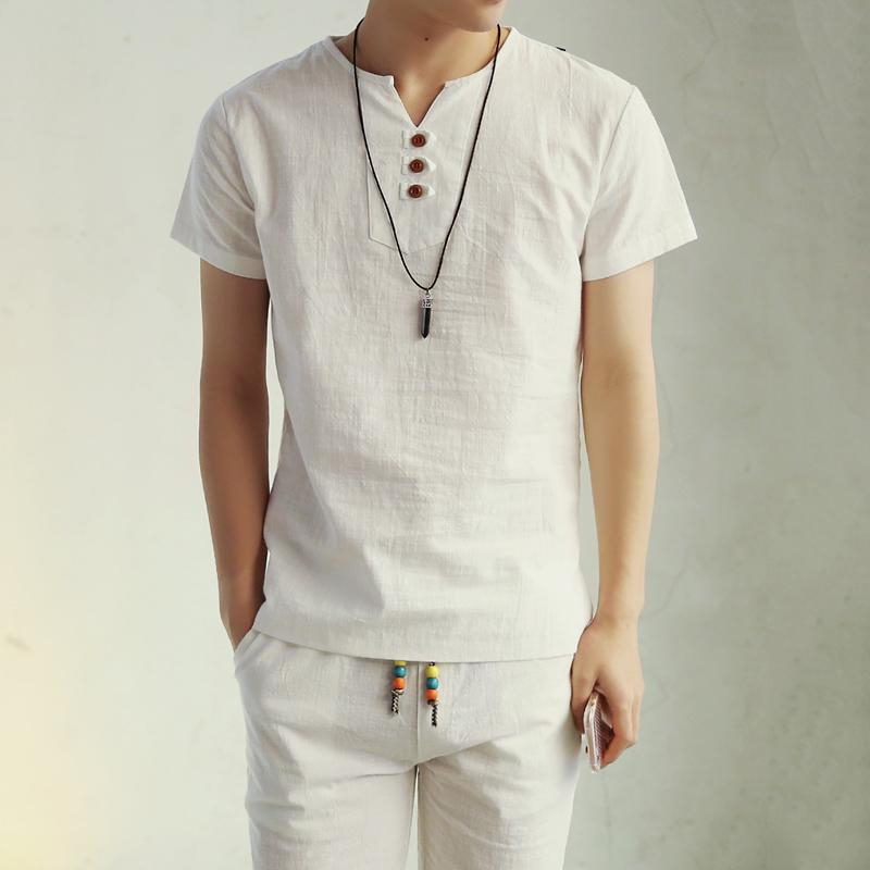 2016 New Summer Style Mens Short Sleeve Linen T shirt Tee Shirts short sleeve T-shirt men fashion t shirt wholesale(China (Mainland))