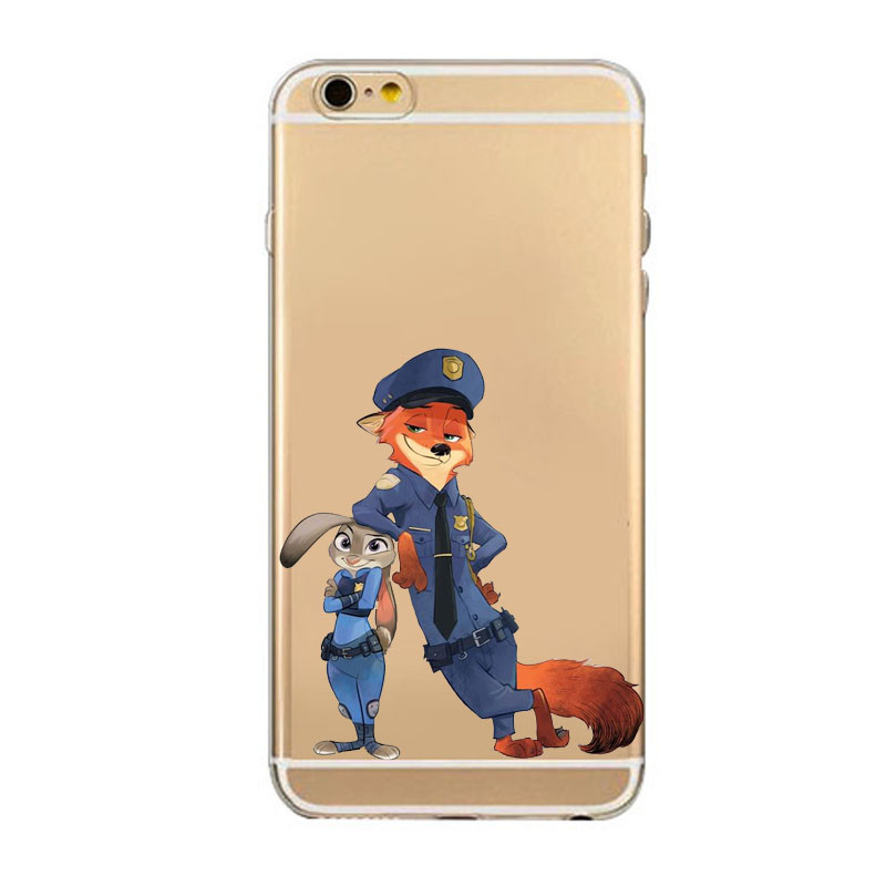 TPU Silicon Cover Despicable Zootopia Fox Case For Apple iPhone 5C 5S/6  6S Plus Soft  Fundas Cover Coque Capa Para Nick Wilde