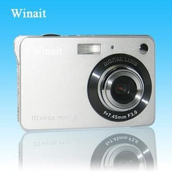 "Free Shipping(DHL) for 2.7""TFT 12.0Mega pixels digital camera with silver or black"