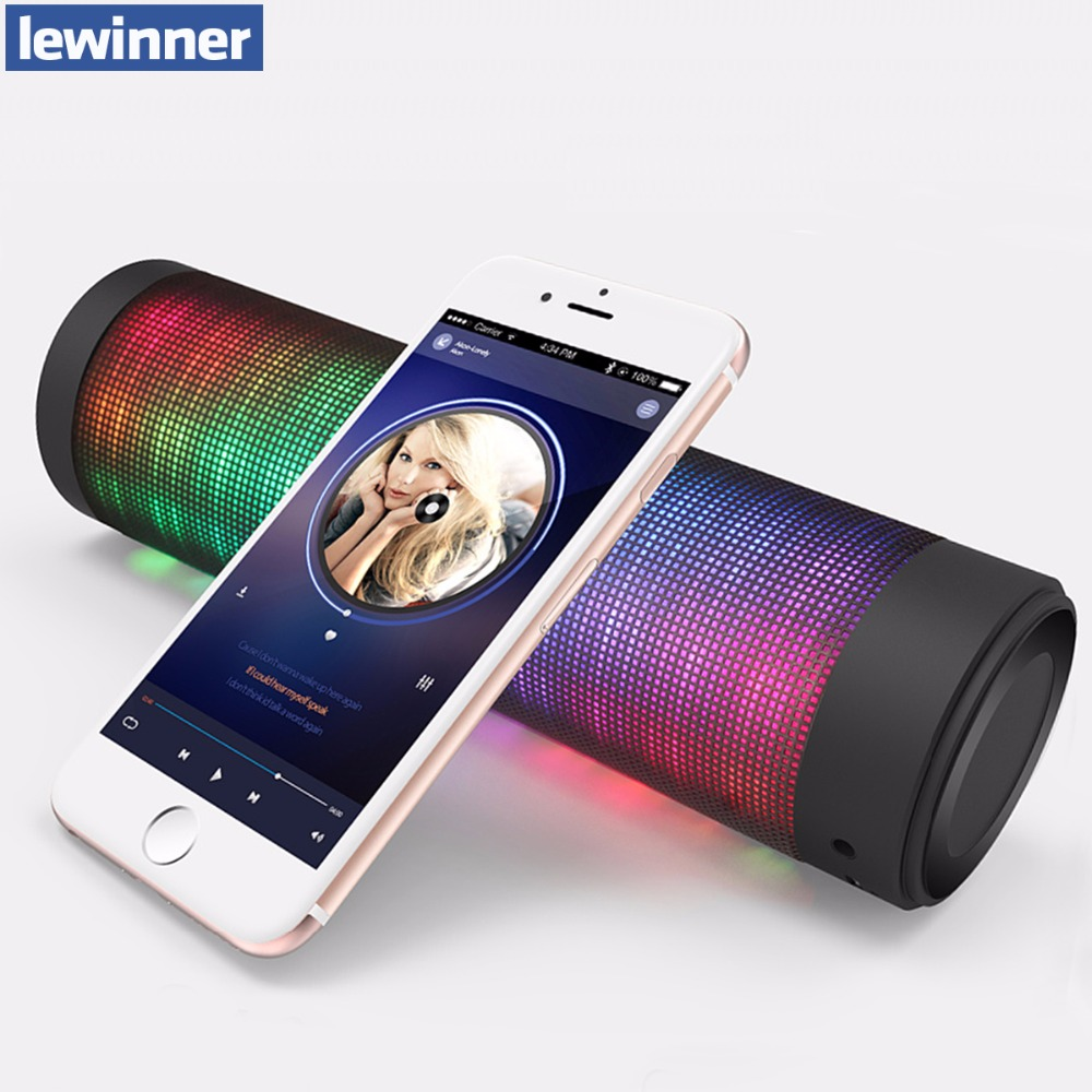 Portable Bluetooth Speaker Colorful LED Lights Wireless Speakers For IOS Android Computer Surround Stereo Sound Subwoofer(China (Mainland))