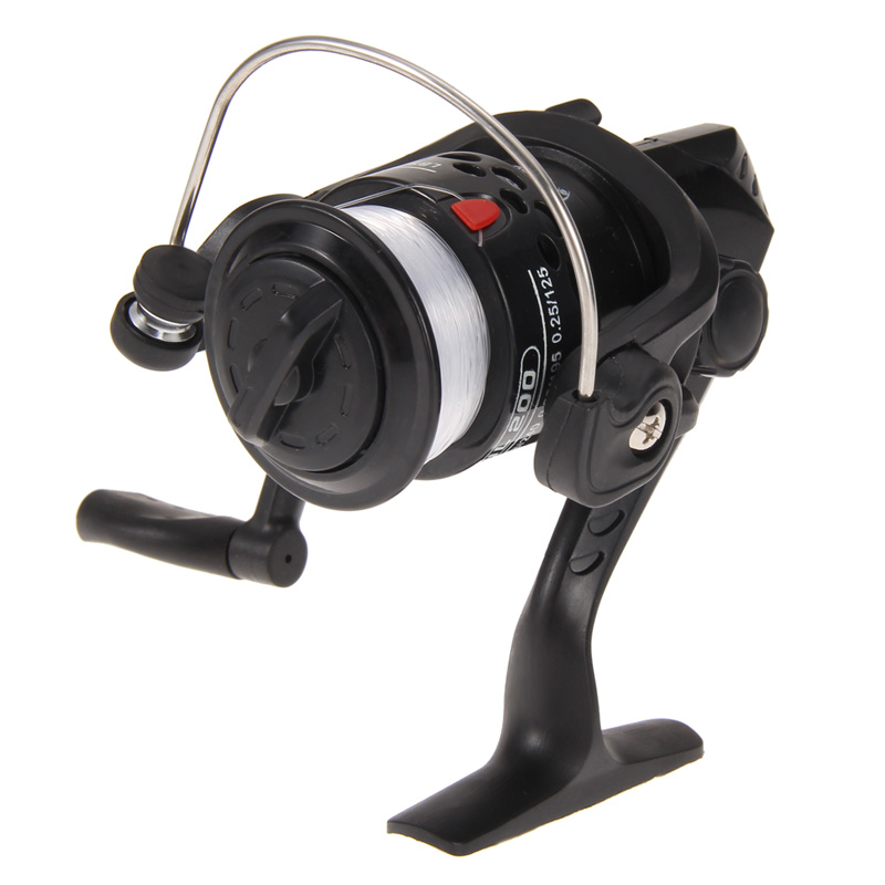 EA14 Aluminum Body Spinning Reel High Speed G-Ratio 5.2:1Fishing Reels with Line(China (Mainland))