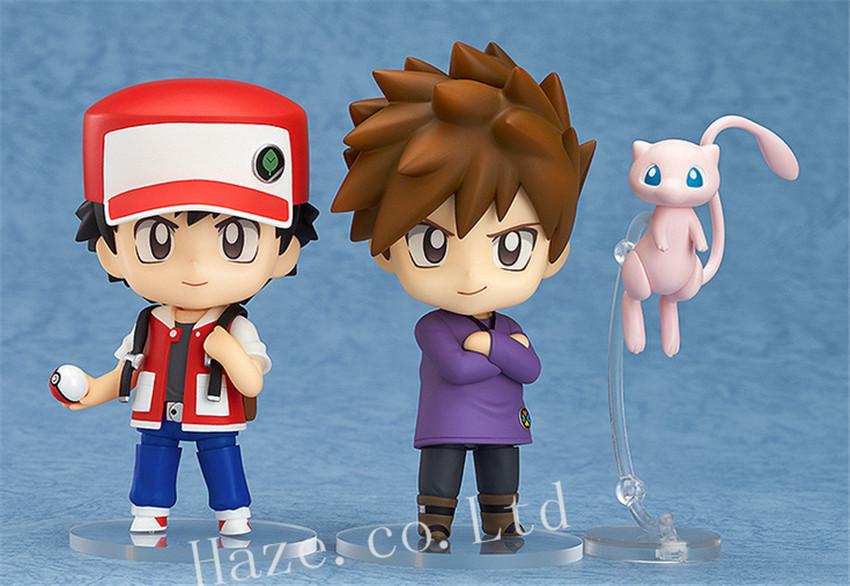 Pokemon Ash Ketchum Gary Oak Mew Nendoroid PVC Figure 10cm(China (Mainland))