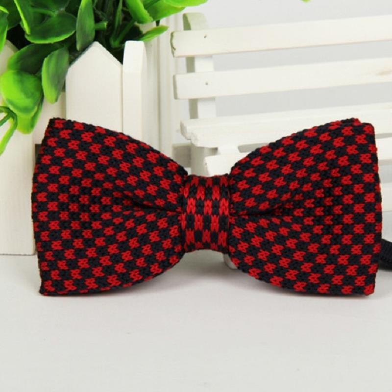 brand gravata corbatas pajaritas hombre Red black man Knitting Bilayer Bow ties LYY4699 marca noeud papillon