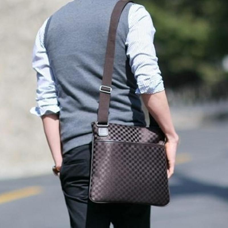New HOT Fashion Designer Nylon Leather Mens Bandbag Bag Brand Men Shoulder Bag Leather Messenger Bags Free Shipping(China (Mainland))