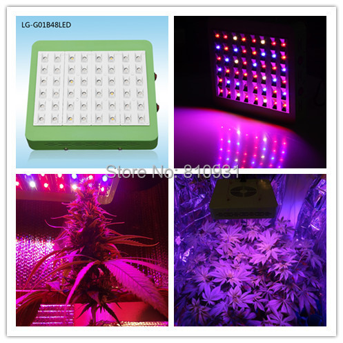 Cheap LED Grow Light 240W 48 x 5W Chip Full Spectrum 10 Band Refletor + Switches Design Free Hanging Kit(Stock in CA,RU,USA,AU)(China (Mainland))