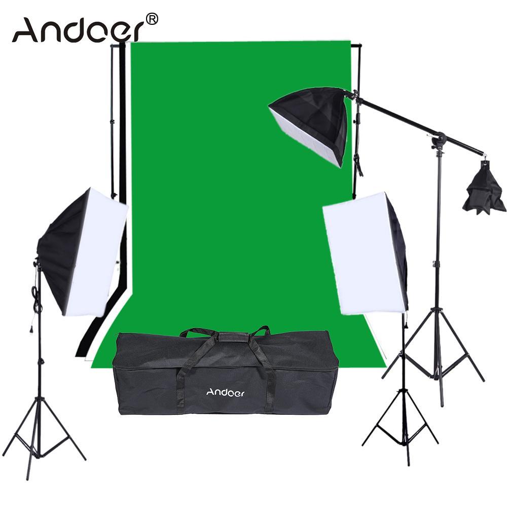 Andoer Photo Video Equipment Accessories Photo Studio Lighting Kit Photography Studio Portrait Product Light Tent Kit(China (Mainland))
