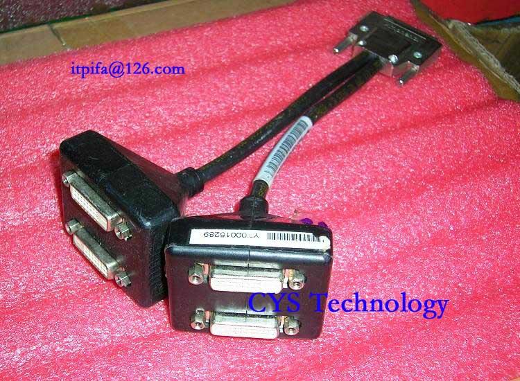Free shipping for original Dell F908M Amphenol NVIDIA VGDCI Quad DVI Splitter Cable 0F908M F908M(China (Mainland))