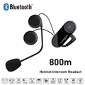 New 800M BT Bluetooth Motorcycle Helmet Intercom Interphone Headset with FM Radio Function intercomunicador motocicleta