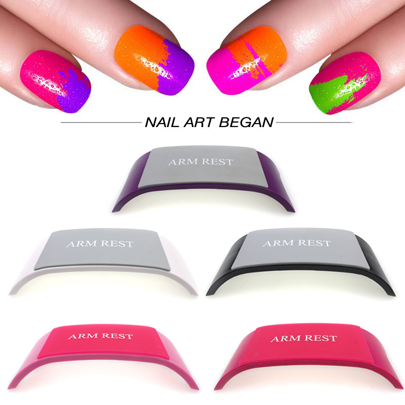 Nail Equipment Comfortable Plastic & Silicone Nail art Cushion Pillow Salon Hand Holder Nail Arm Rest Manicure Accessories Tool(China (Mainland))