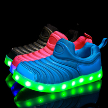 2016 spring summer baby boy shoes light child shoe caterpillar colorful baby girl LED lights up Shoes 21-30 (China (Mainland))