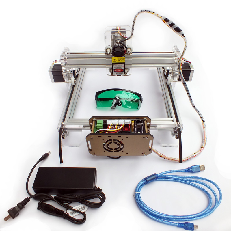 5500mw New DIY laser engraving machine cutting plotter powerful version small 21*25cm working area good for toy laser engraver(China (Mainland))