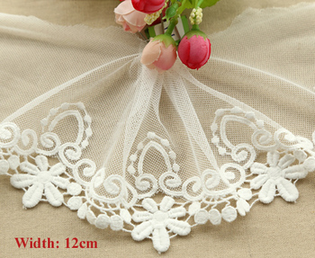 Embroidered lace for scrapbooking,flower pattern trimming lace for garment (ss-770-754)