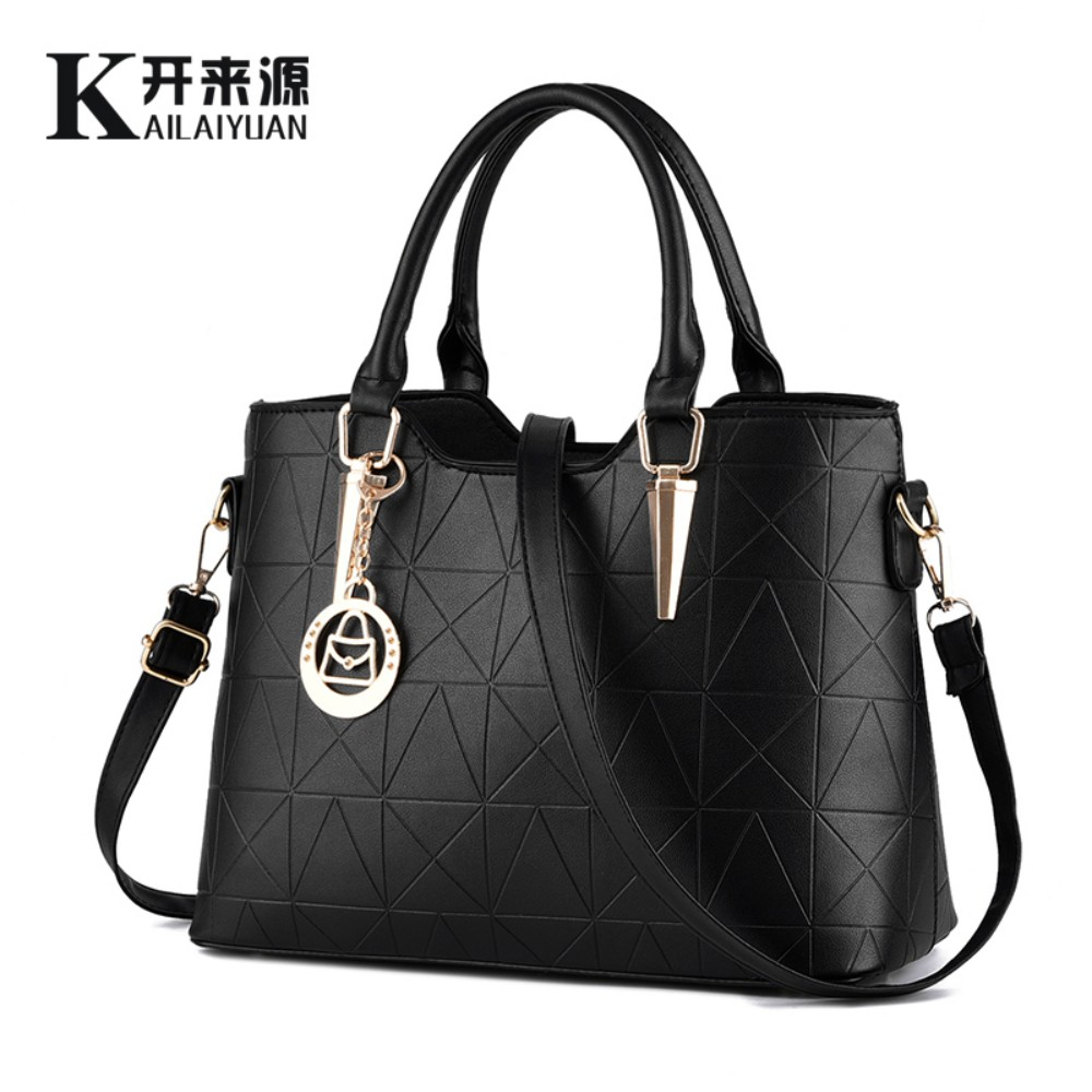 KLY 100% Genuine leather Women handbags 2017 New sweet lady temperament female bag fashion handbags Shoulder Messenger Handbag(China (Mainland))