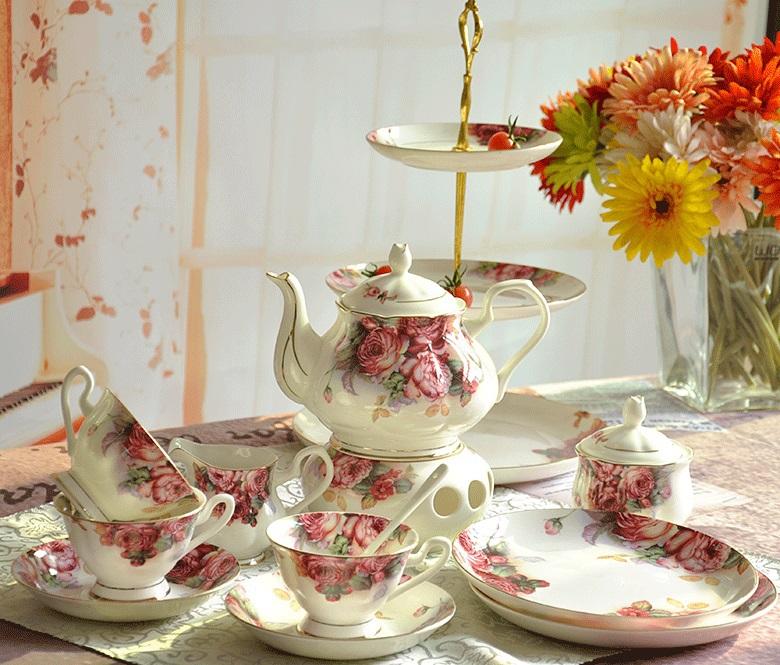 Fashion European Style Bone China Coffee Cup Sets England Royal Ceramic Afternoon Tea Sets Quality Gift